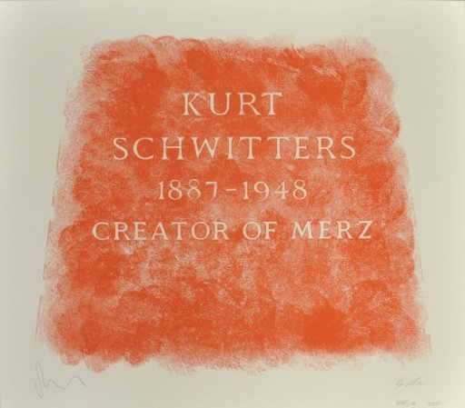Scott MYLES - Print-Multiple - A History of Type Design / Kurt Schwitters, 1887-1948 (Amble