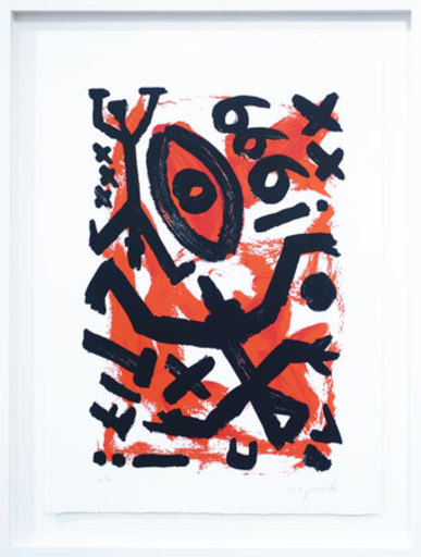 A.R. PENCK - Estampe-Multiple - 666 (The Number of the Beast)