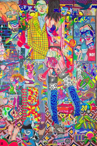 "Guive KHOSRAVI - Painting - ""CLAC"""
