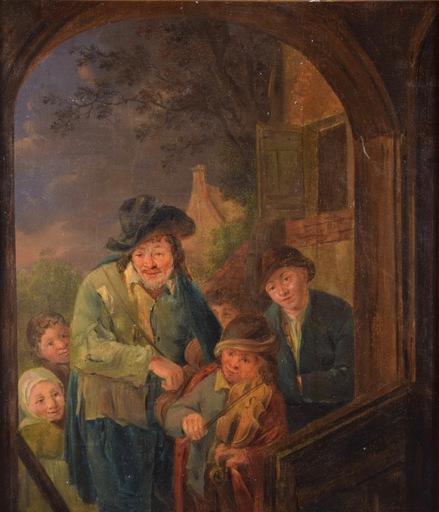 Adriaen VAN OSTADE - Painting - Untitled (Street Musicians)