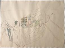 Mimmo PALADINO - Drawing-Watercolor - ohne titel