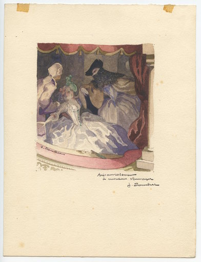 J. ZOUCHET - Drawing-Watercolor - DESSIN ÉROTIQUE AQUARELLE SIGNÉ HANDSIGNED EROTIC DRAWING