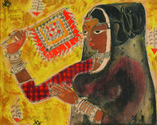 B. PRABHA - Painting - Untitled