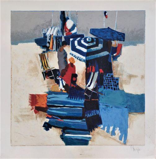 Claude FAUCHERE - Print-Multiple - On the Beach