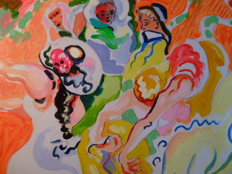 Daniel PAUGAM - Painting - le lien de la gerbe