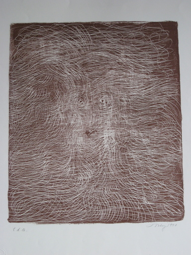 Mark TOBEY - Estampe-Multiple - LITHOGRAPHIE SIGNÉE AU CRAYON EA HANDSIGNED LITHOGRAPH