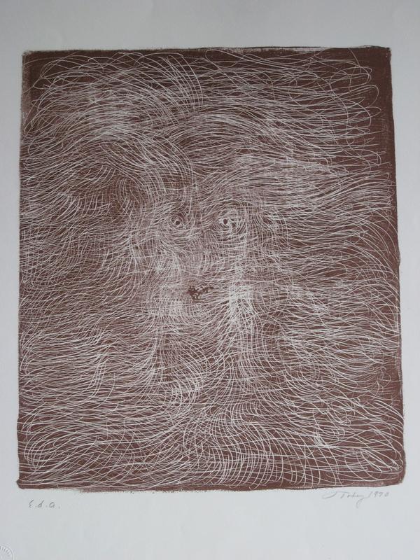 Mark TOBEY - Print-Multiple - LITHOGRAPHIE SIGNÉE AU CRAYON EA HANDSIGNED LITHOGRAPH
