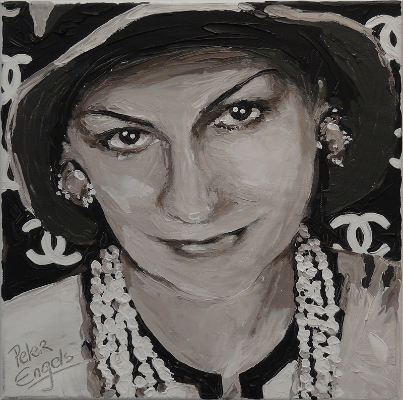 Peter ENGELS - Painting - Coco Chanel