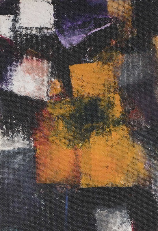 Avigdor ARIKHA - Painting - Composition in orange and black