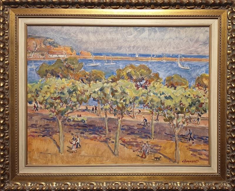 José AMAT PAGES - Painting - Sant Feliu de Guixols
