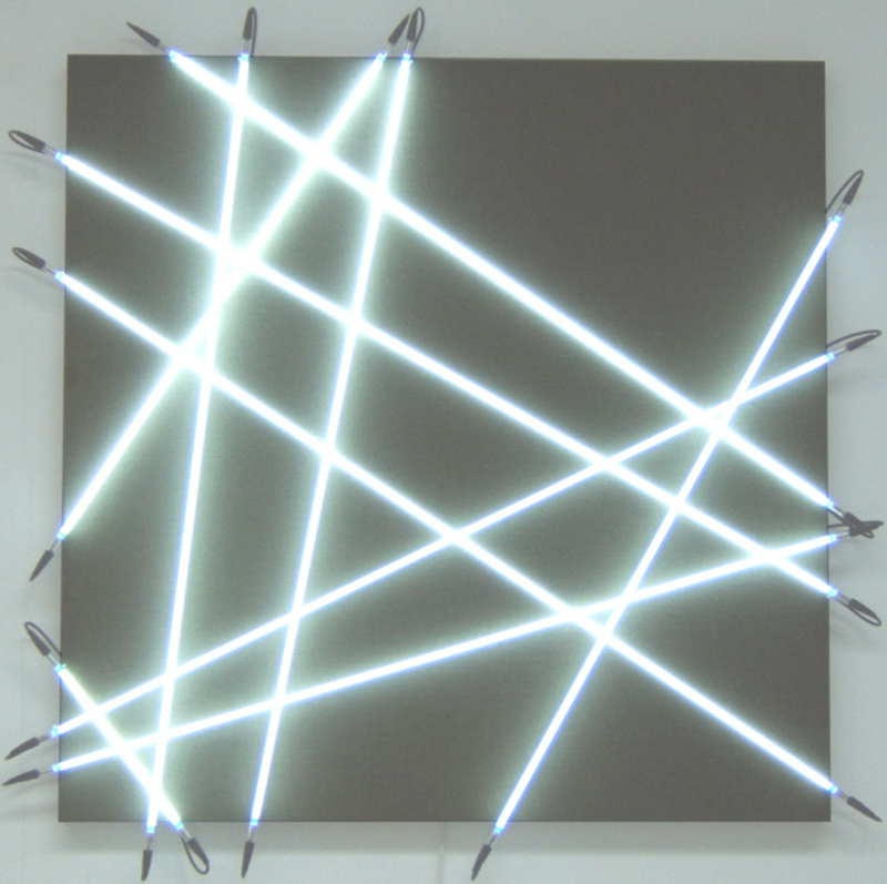François MORELLET - Sculpture-Volume - 10 néons au hasard n°1