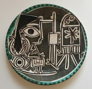 Pablo PICASSO - Ceramiche - Jacqueline au chevalet