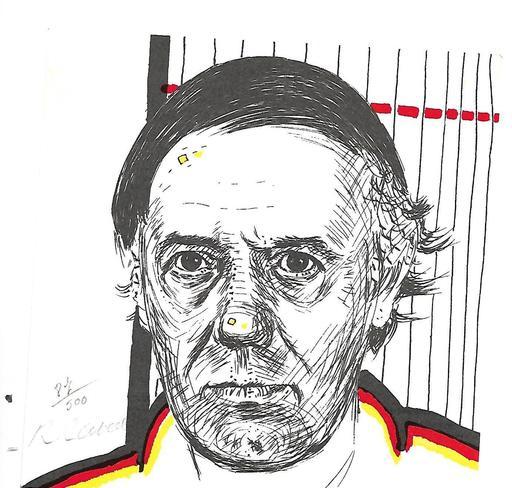 Roger RAVEEL - 版画 - Auto  portrait