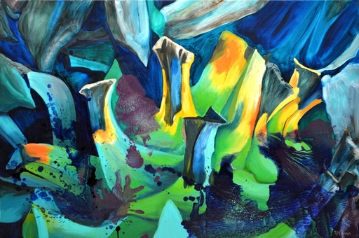 Peny MANAVI - Gemälde - Cactus 12