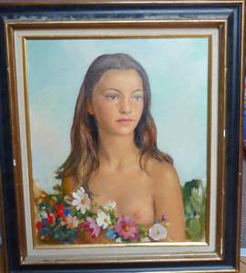 Maurice Ambroise EHLINGER, Jeune fille aux fleurs