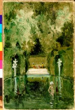 Alexandre BENOIS - Pintura - The Bath of the Marquise