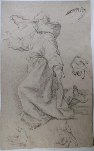 Marco BENEFIAL - Drawing-Watercolor - Moine en dévotion