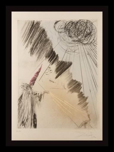 萨尔瓦多·达利 - 版画 - Faust Femme au Clown