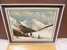 Otto NEUTSCHMANN - Pintura - Schneebedeckte Alpengipfel im Abendlicht