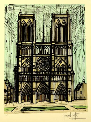 Bernard BUFFET - Stampa-Multiplo - Notre Dame