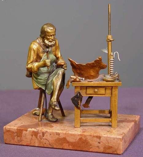 Franz BERGMANN - Sculpture-Volume - Shoemaker