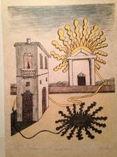Giorgio DE CHIRICO - Stampa Multiplo - tempio del sole 1969