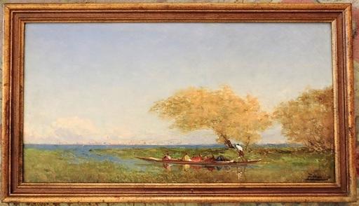 Félix ZIEM - Gemälde - Départ pour le marché de Venise