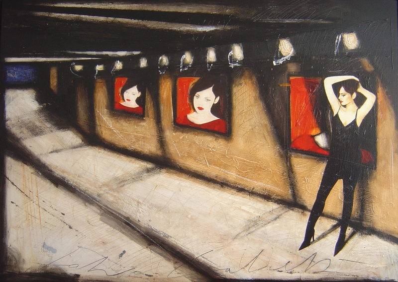Fabio CALVETTI - Peinture - Strade vuote