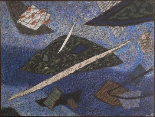 Henri GOETZ - Disegno Acquarello - Saint-Jean Cap Ferrat