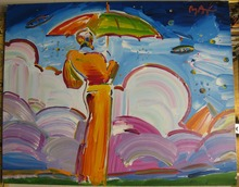 Peter MAX - Pintura - Sage with Umbrella