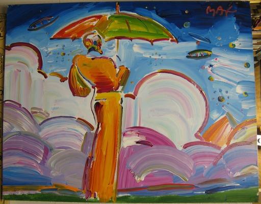 Peter MAX - Gemälde - Sage with Umbrella