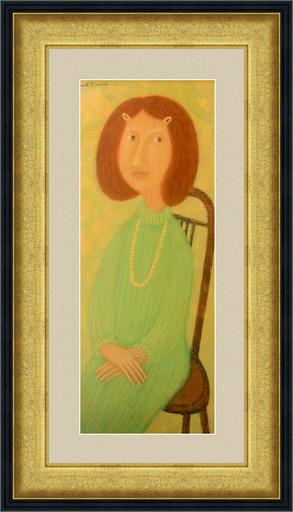 Roman ANTONOV - 绘画 - The girl's portrait in a bids