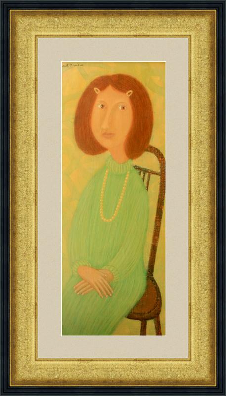 Roman ANTONOV - Painting - The girl's portrait in a bids
