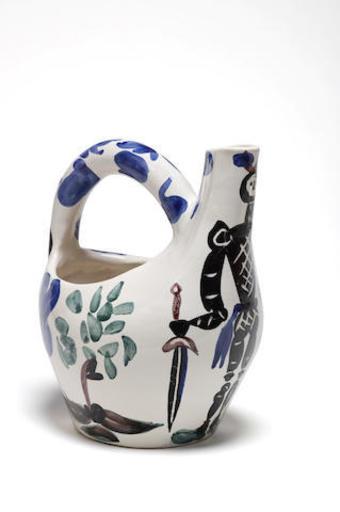 Pablo PICASSO - Ceramic - Cavalier et cheval