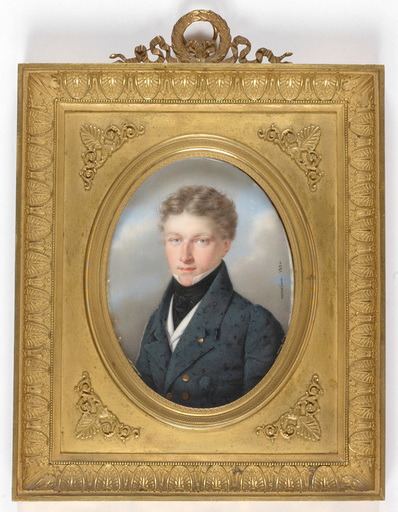 "André Léon MANSION - Miniature - Andre Leon Larue, called Mansion (1785-1834) ""Robert Tubbs"""