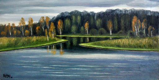 Valeriy NESTEROV - Painting - Moscow region. Pakhra river