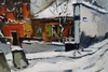 "Claude ALIOTTI - Pintura - Paris Montmartre ""Le Lapin Agile"""