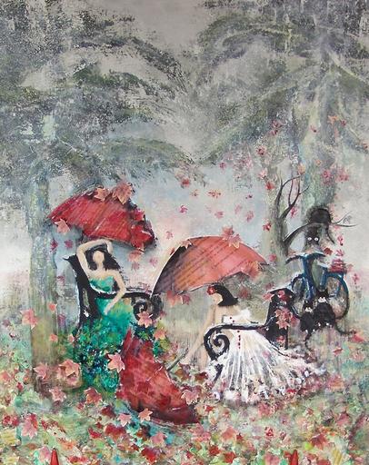 "Frédérique LOMBARD MOREL - Pittura - "" EN ATTENDANT MANET """