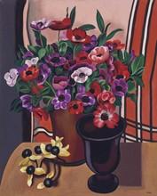Auguste HERBIN - Peinture - Les anémones