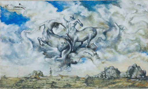 Nicola SAMORI - Peinture - Zuffe di centauri fra le nuvole