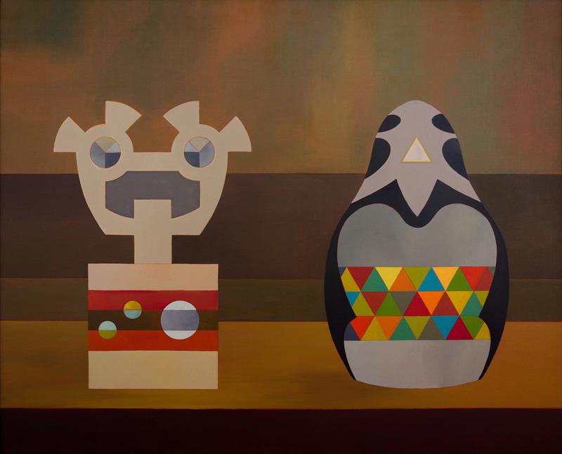 Enrique Rodriguez GUZPENA - Painting - La voz y el crepúsculo