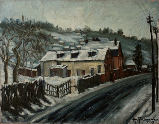 Roger GRIBOVAL - Painting - Neige à Bois-Guillaume