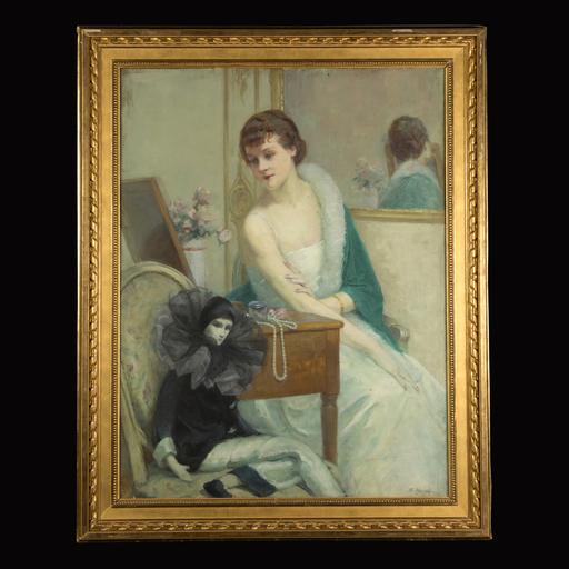 Suzanne HUREL - Painting - La Femme au Pierrot