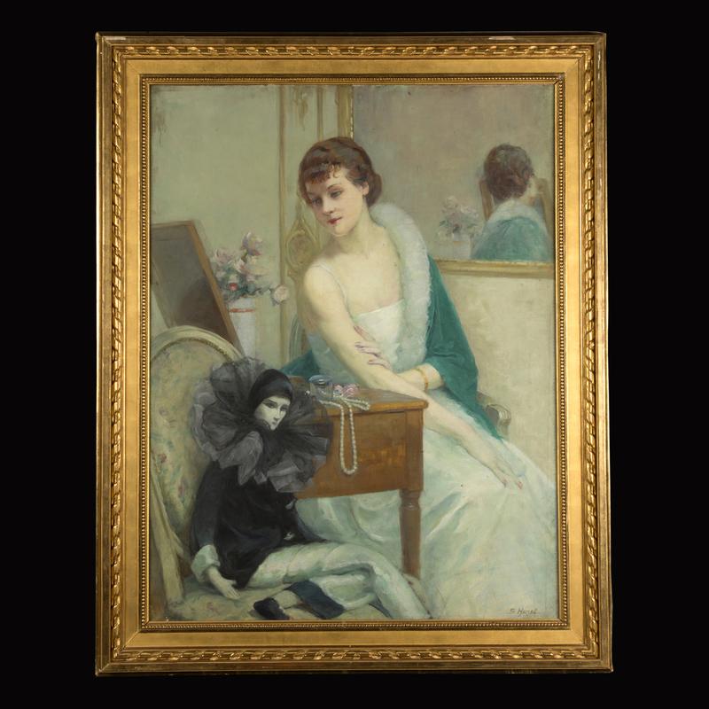 Suzanne HUREL - Gemälde - La Femme au Pierrot