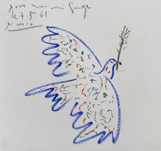巴勃罗•毕加索 - 水彩作品 - Colombe