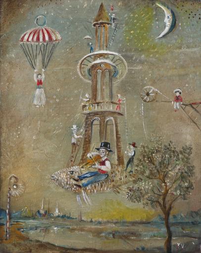Vasily KAFANOV - Painting - Fish-Tower 4