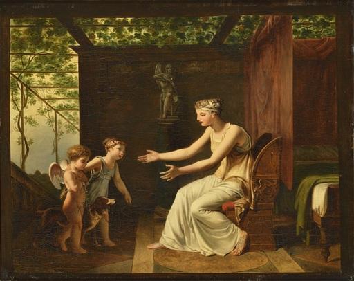 Jean Baptiste MALLET - Pittura - L'innocence et la fidélité ramenant l'Amour