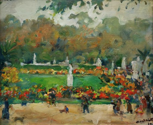 Nikolaj Dmitrievic MILIOTI - Pintura - Jardin du Luxembourg à Paris