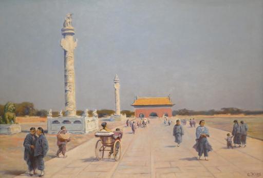 Erich KIPS - Peinture - ALONG TIANAN MEN