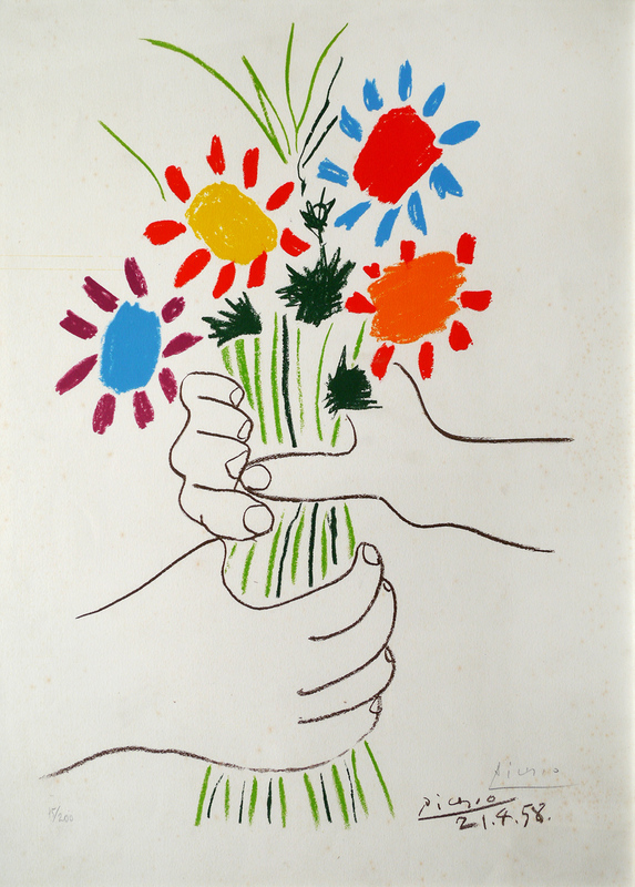 Pablo PICASSO - Estampe-Multiple - The Flowers of the Peace